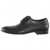 Pantofi eleganti piele naturala barbati negru Alberto Clarini C213-501A-Black