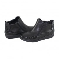 Ghete piele naturala dama negru Ara shoes iarna 12-46307-Black