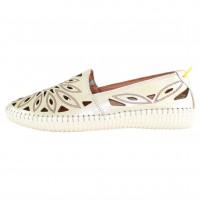 Pantofi piele naturala dama auriu Dogati shoes confort 105-Auriu