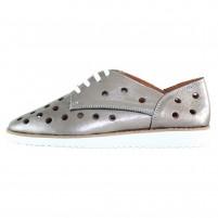 Pantofi piele naturala dama argintiu Dogati shoes confort 1205-Argintiu