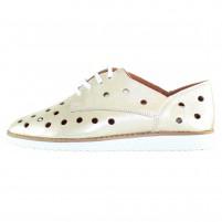 Pantofi piele naturala dama auriu Dogati shoes confort 1205-Auriu
