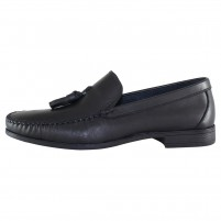 Mocasini piele naturala barbati negru Dogati shoes 7005-Siyah
