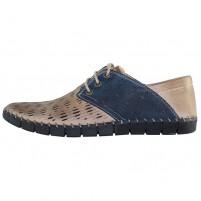 Pantofi piele naturala barbati maro bleumarin Dogati shoes DC-106-08-53