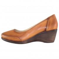 Pantofi piele naturala dama maro Dogati shoes toc mediu 5055-V-Brown