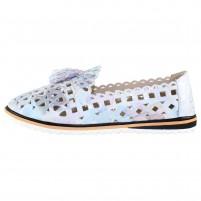 Pantofi piele naturala dama albastru multicolor Dogati shoes confort 526-50-Multicolor