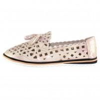 Pantofi piele naturala dama bej multicolor Dogati shoes confort 526-51-Bej