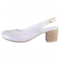 Pantofi piele naturala dama violet Dogati shoes toc mic 802-10-Violet
