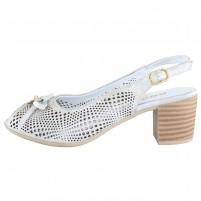 Pantofi piele naturala dama gri argintiu Dogati shoes 804-11-Argintiu-Gri