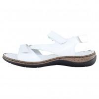 Sandale piele naturala dama alb Elvis 47737-Bianco