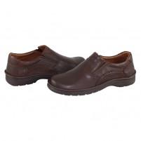Pantofi Krisbut - brown, din piele naturală
