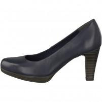 Pantofi piele naturala dama bleumarin Marco Tozzi toc mediu 2-22408-20-892-Navy-Antic