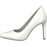Pantofi dama alb Marco Tozzi toc inalt 2-22415-20-123-White-Patent