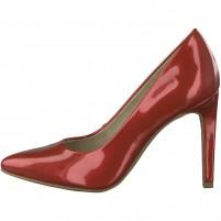 Pantofi dama rosu Marco Tozzi toc inalt 2-22415-20-572-Chili-Met-Patent