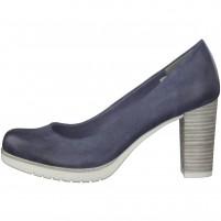 Pantofi dama albastru Marco Tozzi toc mediu 2-22435-20-822-Ocean-Antic