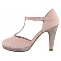 Pantofi dama roz Marco Tozzi toc inalt MT-2-24402-22-596-rose-comb