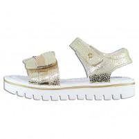 Sandale piele naturala copii fete alb auriu Melania ME4030D9E-A-Gold