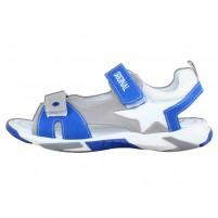 Sandale piele naturala copii alb gri albastru Melania ME6017F9E-B