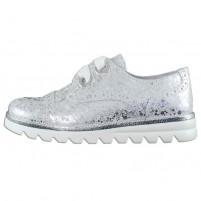Pantofi piele naturala copii fete alb argintiu Melania ME6266F9E-B