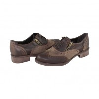 Pantofi piele naturala dama maro Agressione Romika-V1-Brown