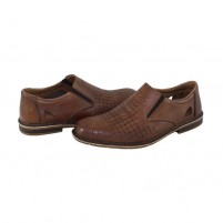Pantofi Rieker - brown, din piele naturală