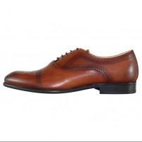 Pantofi eleganti piele naturala barbati maro Nevalis 850-Maro