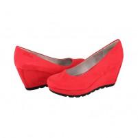 Pantofi dama rosu s.Oliver toc inalt 5-22428-26-533-Chili