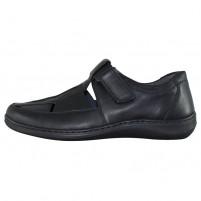 Pantofi piele naturala barbati negru Waldlaufer relax confort ortopedic 478302-174-001-Herwig-Black