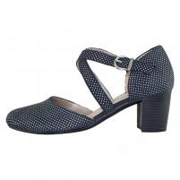 Pantofi piele naturala dama bleumarin Remonte toc mediu D0827-14-Blue-combination