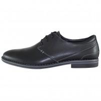Pantofi eleganti piele naturala barbati negru Pieton SIR-142-Negru
