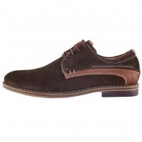Pantofi eleganti piele intoarsa barbati maro Pieton Sir-184-Maro-VL