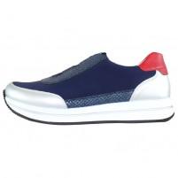 Pantofi dama albastru multicolor Remonte relax confort D2508-14-Blue-combination