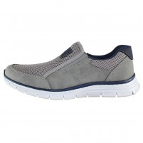 Pantofi piele naturala sport barbati gri Rieker B4873-40-Grey