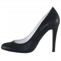 Pantofi piele naturala dama negru Saccio toc inalt 73-108-2-Black