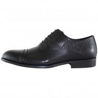 Pantofi eleganti piele naturala barbati negru Saccio A453-42A-Black