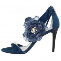 Sandale piele intoarsa dama bleumarin Saccio S0705-252-1-Blue