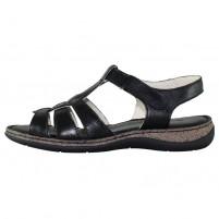 Sandale piele naturala dama negru Elvis 47738-Nero