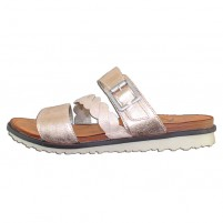 Sandale piele naturala dama roz roze gold Remonte R2757-31-Rosa
