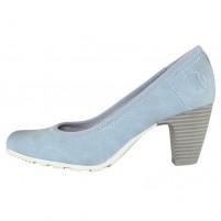Pantofi dama albastru s.Oliver toc mediu 5-22404-22-810-ltblue