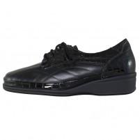Pantofi piele naturala dama negru Waldlaufer relax confort ortopedic lac 860010-214-001-Moni