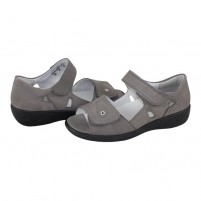 Sandale Waldlaufer - grey, din piele naturală