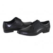 Pantofi eleganti piele naturala barbati negru Saccio A582-11A-Black