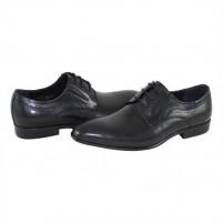 Pantofi eleganti piele naturala barbati negru Saccio A588-50A-Black