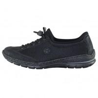 Pantofi dama negru Rieker relax confort N22M6-00-Black