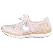 Pantofi dama roz Rieker relax confort N4263-30-Rosa