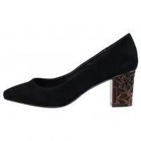 Pantofi piele intoarsa dama negru Epica toc mediu JIXQ675-DA037-P8563T-01I-Black-Goat-Suede