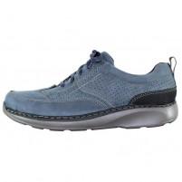 Pantofi piele naturala barbati albastru Mels 61901-Blue
