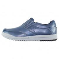Pantofi piele naturala barbati albastru Mels 71968-Blue