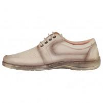 Pantofi piele naturala barbati bej Nicolis 200489-Bej