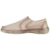 Pantofi piele naturala barbati bej Nicolis 200589-Bej