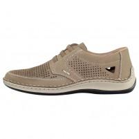 Pantofi piele naturala barbati bej Rieker relax confort 05259-64-Brown